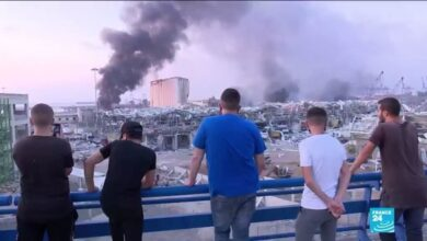 Photo of The Beirut blast 'created a wave that rushed towards us, like in the movies'