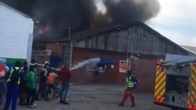 Photo of News24.com | WATCH | Fire breaks out at Cape Town recycling plant