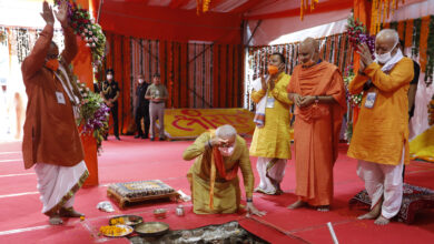 Photo of At Site Of Razed Mosque, India's Modi Lays Foundation For Controversial Hindu Temple