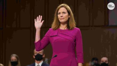 Photo of Amy Coney Barrett discusses role of the courts at confirmation hearing
