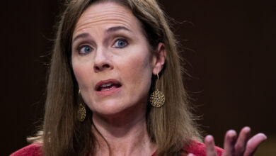 Photo of Amy Coney Barrett shies from her mentor's positions in Supreme Court confirmation hearing