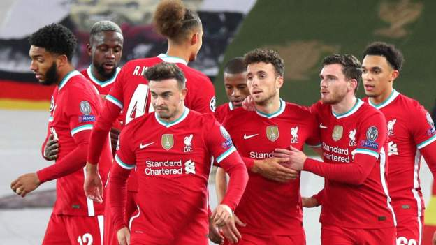 Liverpool 2-0 FC Midtjylland: Diogo Jota and Mohamed Salah score in Reds win