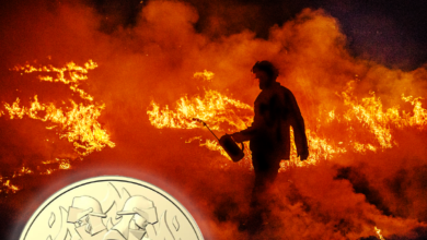 Photo of Royal Australian Mint releases limited edition $2 flame coin honouring Aussie firefighters