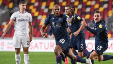 Photo of Brentford 1-1 Swansea City: Andre Ayew rescues Swans
