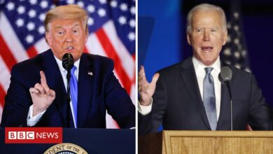 Photo of US election results: Trump and Biden each claim victory as lawsuits brew