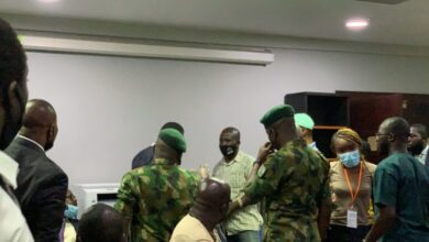 Photo of Army commander: Soldiers were attacked at Lekki tollgate but they still offered water to protesters