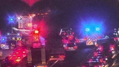 Photo of Live updates as four vehicle crash closes the M4 near Swansea