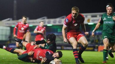 Photo of Johnny McNicholl takes starring role as Scarlets win in wet and windy Galway