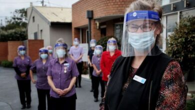Photo of Lexie Dennis with Bupa Edithvale staff