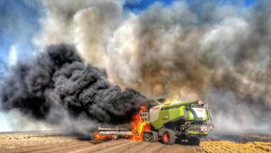 Photo of Cash, crops up in smoke as farmers deal with spate of 'heart-stopping' header fires