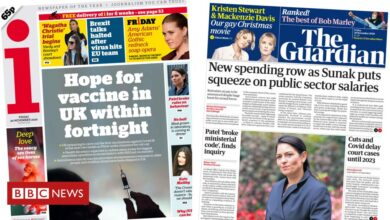 Photo of The Papers: Covid 'jab joy' and public sector pay 'blow'