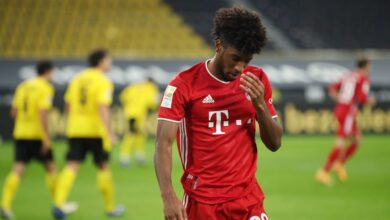 Photo of Bayern Munich Winger Kingsley Coman Suffers Ankle Injury in Training