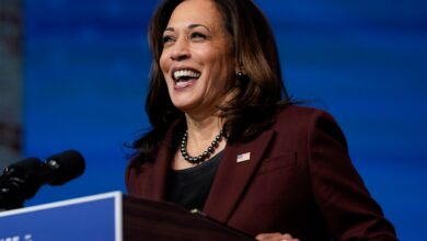 Photo of Kamala Harris calls nurse on Thanksgiving to thank her for her work fighting on the COVID-19 frontline