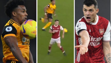 Photo of Arsenal star Granit Xhaka's defending mocked by Wolves with savage TikTok video