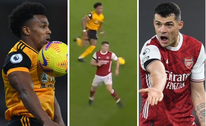 Arsenal star Granit Xhaka's defending mocked by Wolves with savage TikTok video