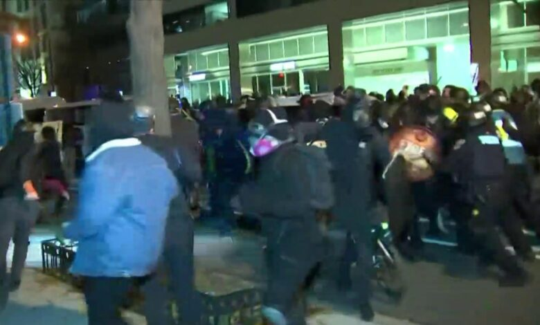 Multiple arrested, hospitalized following clashes after pro-Trump rally