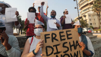 Photo of Scores protest in India against arrest of climate activist