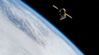 Photo of Russia's Progress 77 cargo ship docks with the International Space Station