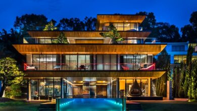 Photo of Look inside a Singapore supermarket billionaire's $50 million mansion, which combines a historic bungalow with an ultra-modern house and has a 100-foot swimming pool