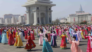 Photo of N Koreans mark founder's birthday amid economic difficulties