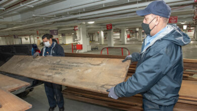 Photo of This wood sat in storage for 100 years. Now it's being used to fix Capitol riot damage