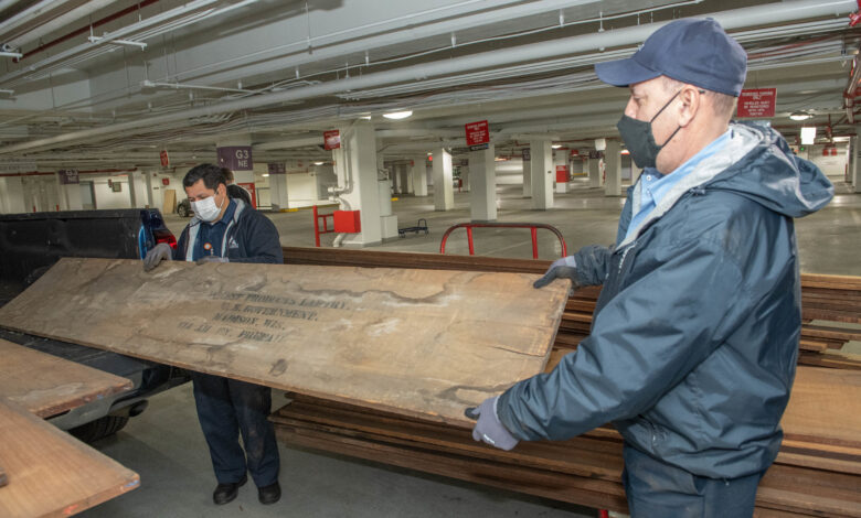 This wood sat in storage for 100 years. Now it's being used to fix Capitol riot damage